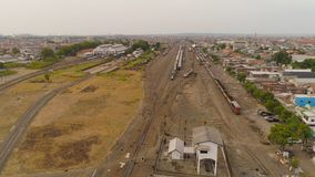 Stazione ferroviaria a Soerabaya Indonesia fotografia stock