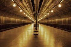 Stazione ferroviaria sotterranea Fotografia Stock Libera da Diritti