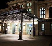 Stazione ferroviaria StPölten/Niederösterreich Fotografie Stock Libere da Diritti