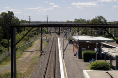 Stazione ferroviaria a Sydney, Australia Immagine Stock Libera da Diritti