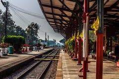 Stazione ferroviaria, Tailandia Fotografia Stock