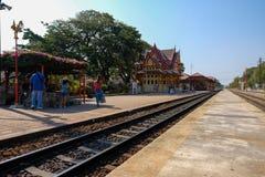 Stazione ferroviaria Tailandia di Hua Hin Fotografie Stock