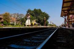 Stazione ferroviaria Tailandia di Hua Hin Fotografia Stock