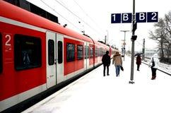 Stazione ferroviaria tedesca Immagini Stock