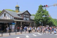 Stazione ferroviaria Tokyo Giappone di Harajuku Fotografie Stock Libere da Diritti