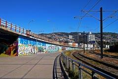 Stazione ferroviaria in Valparaiso, Cile Immagini Stock Libere da Diritti