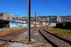 Stazione ferroviaria in Valparaiso, Cile Fotografia Stock Libera da Diritti