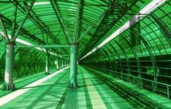 Stazione ferroviaria verde Fotografia Stock Libera da Diritti