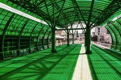 Stazione ferroviaria verde Immagine Stock Libera da Diritti