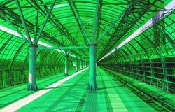 Stazione ferroviaria verde Fotografia Stock