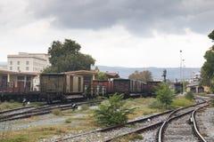 Stazione ferroviaria in Volos, Grecia Fotografia Stock