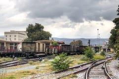 Stazione ferroviaria in Volos, Grecia Fotografia Stock Libera da Diritti