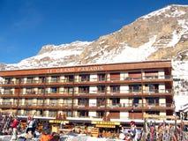 Stazione Francia dello sci di Val d Isere Immagini Stock