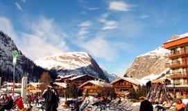 Stazione Francia dello sci di Val d Isere Fotografia Stock Libera da Diritti