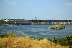 Stazione idroelettrica di Dnieper, Zaporizhia fotografia stock