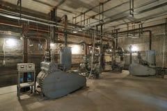 Stazione industriale del compressore Fotografia Stock Libera da Diritti