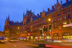 Stazione internazionale di St Pancras a Londra fotografia stock