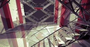 Stazione. Interno industriale moderno, scale, spazio pulito in indu royalty illustrazione gratis