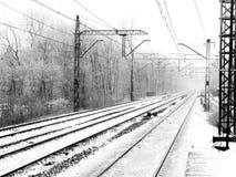 Stazione in inverno Fotografia Stock