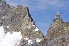 Stazione Jungfraujoch Fotografia Stock