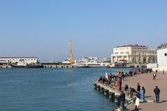 Stazione marina di Soci Fotografia Stock