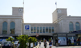 Stazione marittima dell'ancora transatlantica di Napoli Fotografie Stock