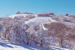 Stazione meteorologica alta nella montagna Immagine Stock Libera da Diritti