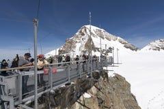 Stazione metereologica di Jungfraujoch, Svizzera Fotografie Stock Libere da Diritti