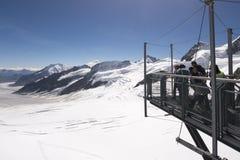 Stazione metereologica di Jungfraujoch, Svizzera Immagini Stock