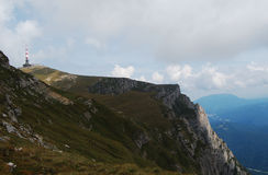 Stazione metereologica in montagne di Bucegi Fotografie Stock