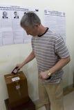 stazione prezident russa della scheda elettorale di elezione Immagine Stock