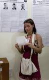 Stazione prezident russa della scheda elettorale di elezione Fotografie Stock Libere da Diritti