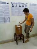 Stazione prezident russa della scheda elettorale di elezione Fotografia Stock Libera da Diritti