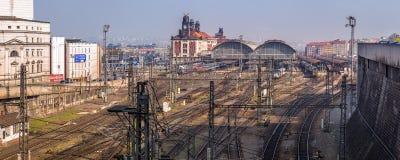 Stazione principale di Praga, repubblica Ceca Immagini Stock Libere da Diritti