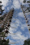 Stazione radiofonica di posizione & x22; Duga& x22; , Zona di Chornobyl Fotografia Stock