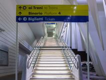 Stazione Reggio nell'Emilia del treno ad alta velocit? fotografia stock