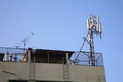 Stazione ricetrasmittente per il cellulare 3G, tecnologia 4G Immagini Stock