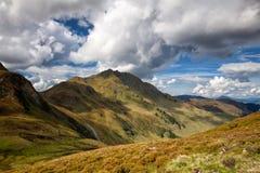 Stazione sciistica in alpi tirolesi in autunno, Austria Fotografie Stock