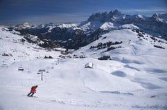 Stazione sciistica alpina Fotografia Stock Libera da Diritti