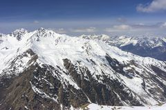 Stazione sciistica alpina Serfaus Fiss Ladis in Austria Fotografia Stock