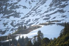 Stazione sciistica alpina Serfaus Fiss Ladis in Austria Immagini Stock