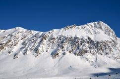 Stazione sciistica alpina a Solden nelle alpi di Otztal, Tirolo, Austria Fotografie Stock Libere da Diritti
