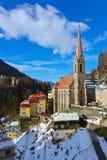 Stazione sciistica cattivo Gastein Austria delle montagne Fotografie Stock