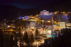 Stazione sciistica cattivo Gastein Austria delle montagne Immagini Stock