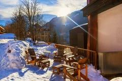 Stazione sciistica cattivo Gastein Austria delle montagne Fotografia Stock Libera da Diritti