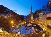 Stazione sciistica cattivo Gastein Austria delle montagne Immagine Stock Libera da Diritti