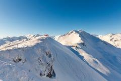 Stazione sciistica cattivo Gastein in montagne nevose di inverno, Austria, terra Salisburgo Fotografia Stock