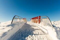 Stazione sciistica cattivo Gastein in montagne nevose di inverno, Austria, terra Salisburgo Immagini Stock Libere da Diritti