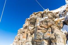 Stazione sciistica cattivo Gastein in montagne nevose di inverno, Austria, terra Salisburgo Immagini Stock