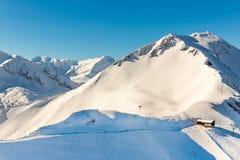 Stazione sciistica cattivo Gastein in montagne nevose di inverno, Austria, terra Salisburgo Fotografie Stock